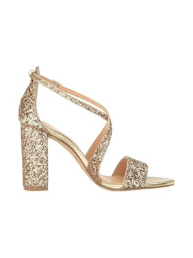 Jewel Badgley Mischka Cook Gold Glitter