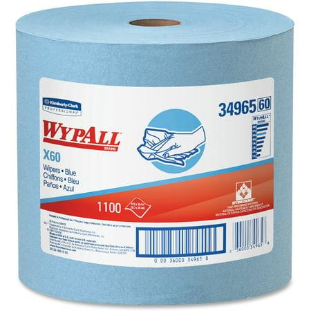 Wypall, KCC34965, X60 Wipers Jumbo Roll, 1 Carton, (Wypall L30 Roll Wipers)