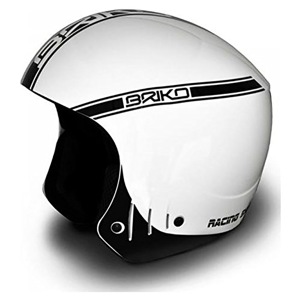 Briko Rocker Super Helmet White Black Shine Size: 58CM by SOGEN SPORTS INC.