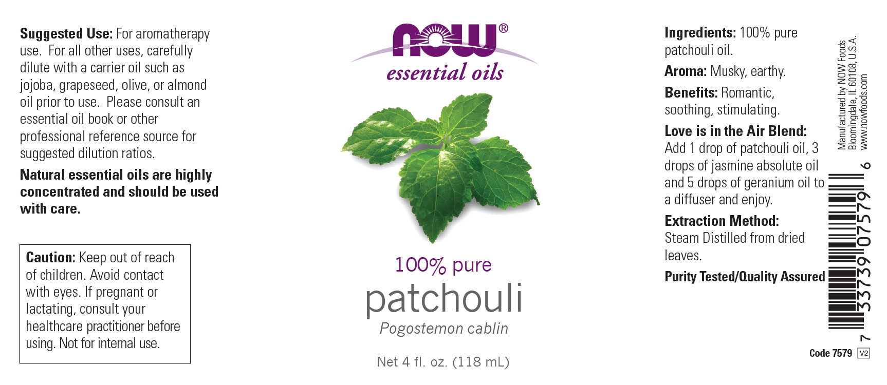 Now Essential Oils Patchouli Oil Earthy Aromatherapy Scent Steam Distilled 100 Pure Vegan Child Resistant Cap 4 Ounce Walmart Com Walmart Com