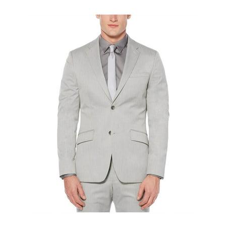 Perry Ellis Mens Heathered Two Button Blazer Jacket