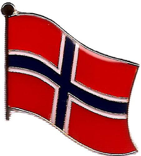 NORWAY ............Country Metal Enamel Flag Lapel Pin Badge....BRAND NEW