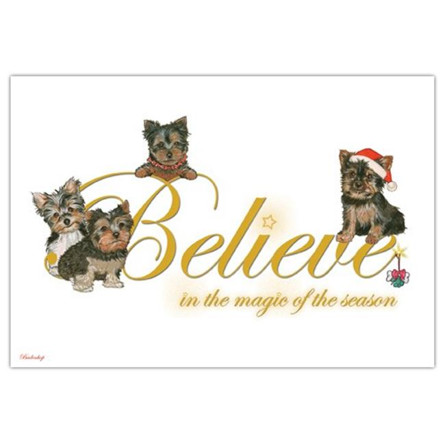 Pipsqueak Productions C584 Yorkshire Terriers Christmas Boxed Cards - Pack of 10 - image 1 de 1