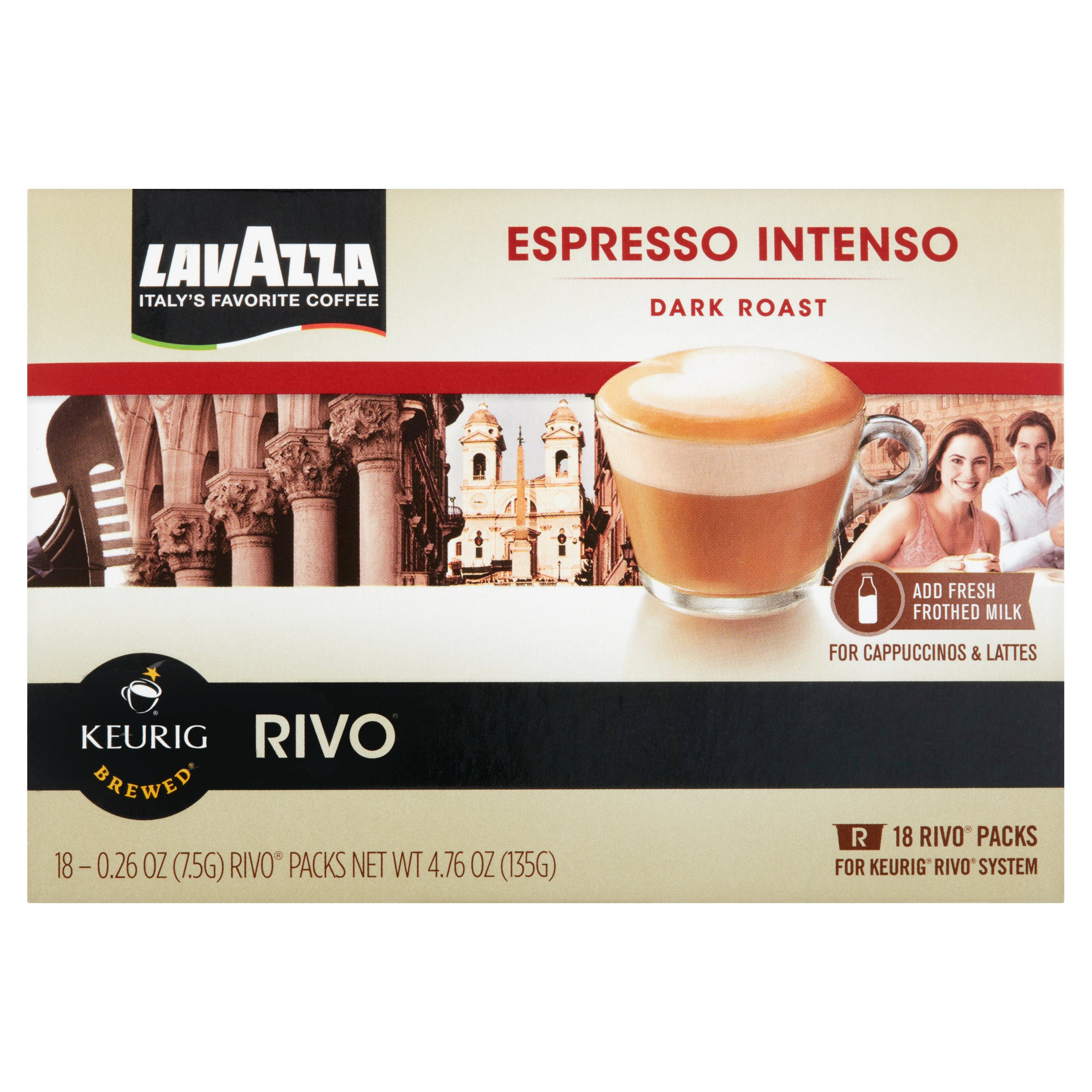 Lavazza Dark Roast Espresso Intenso, 0.26 oz, 18 count