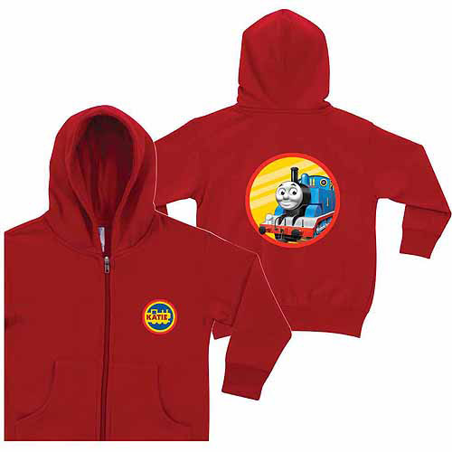 Personalized Thomas & Friends Retro Thomas Little Boys' Red Zip-Up Hoodie