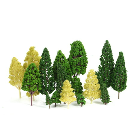 Pack of 27pcs Model Trees Scenery Layout Train Railway Diorama Landscape 3-16cm 3