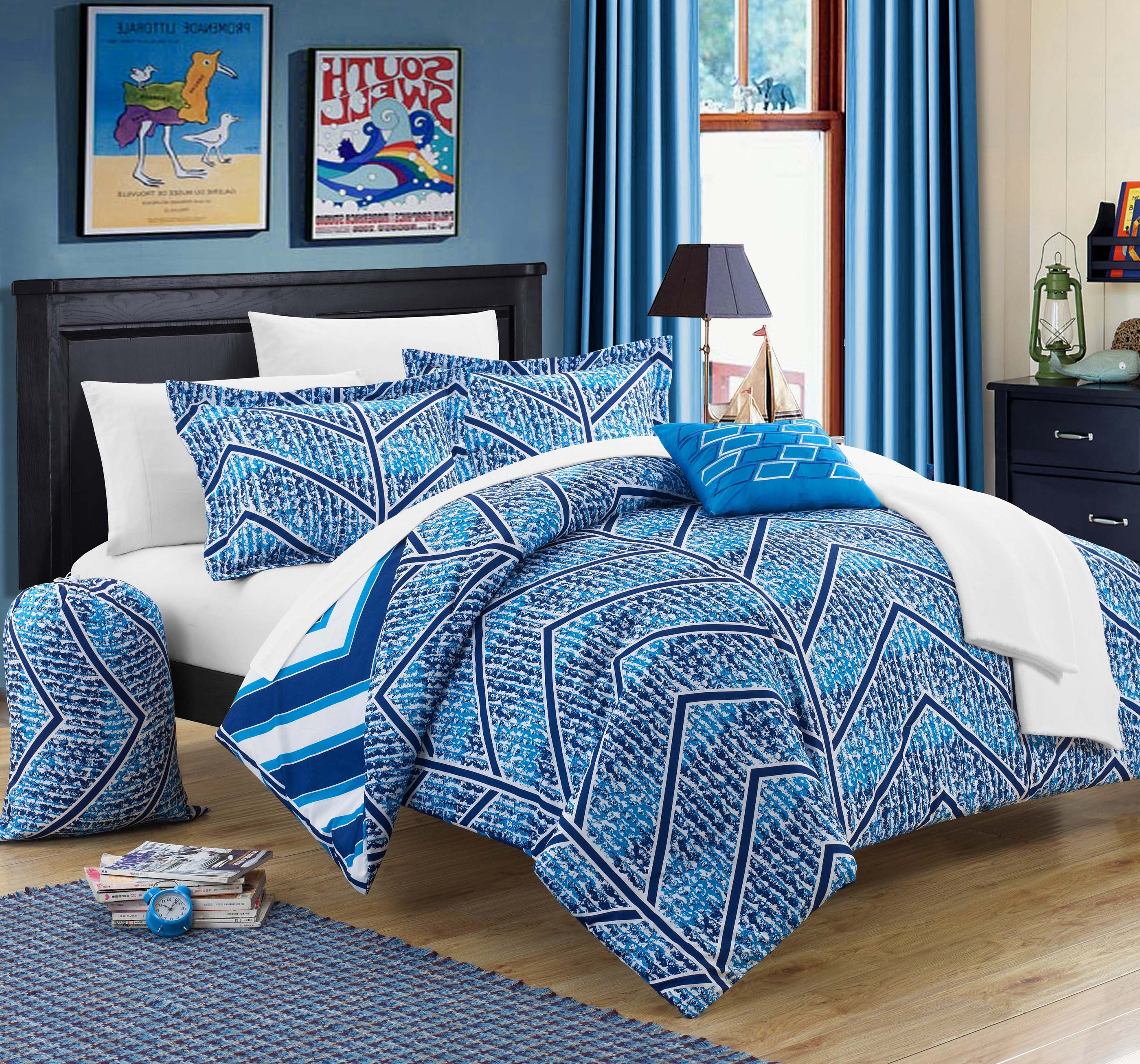 Chic Home Amaretto 10 Piece Reversible Comforter Set