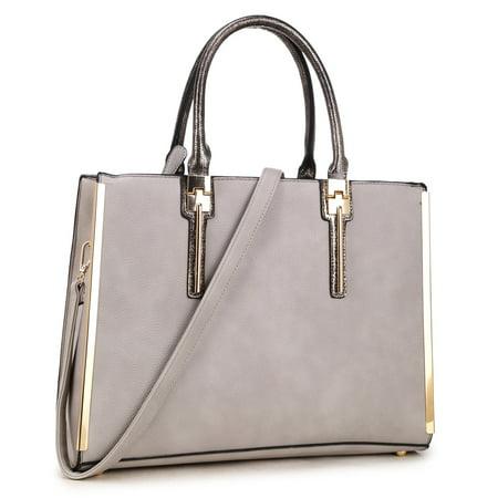 Dasein  Gold Plated Trim Satchel Handbag ()