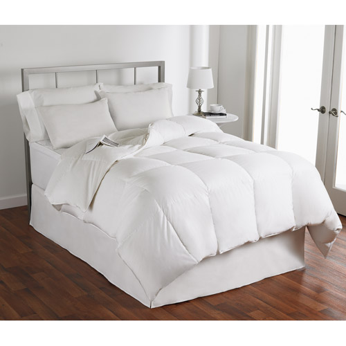 Sateen 400TC Cotton Down Comforter, Light Warmth in Multiple Sizes