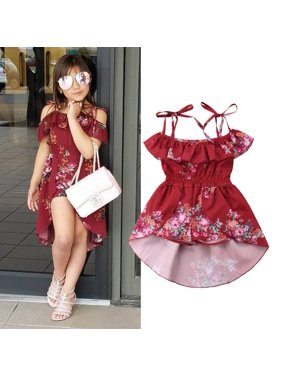 28a8b05179 Product Image Infant Baby Girls Kids Off Shoulder Dress Romper Bodysuit  Jumpsuit Outfits