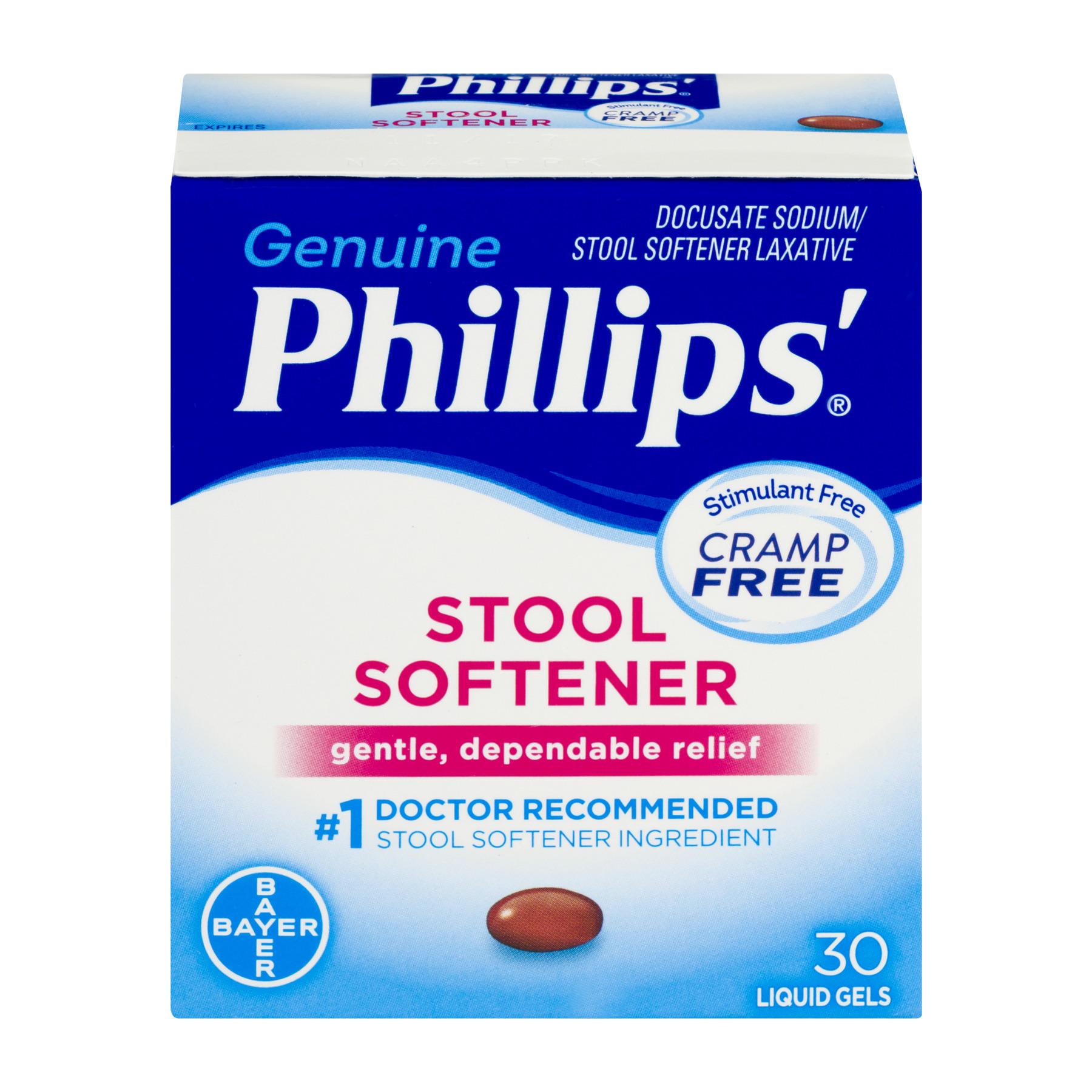 Phillips' Genuine Stool Softener Liquid Gels, 30 count