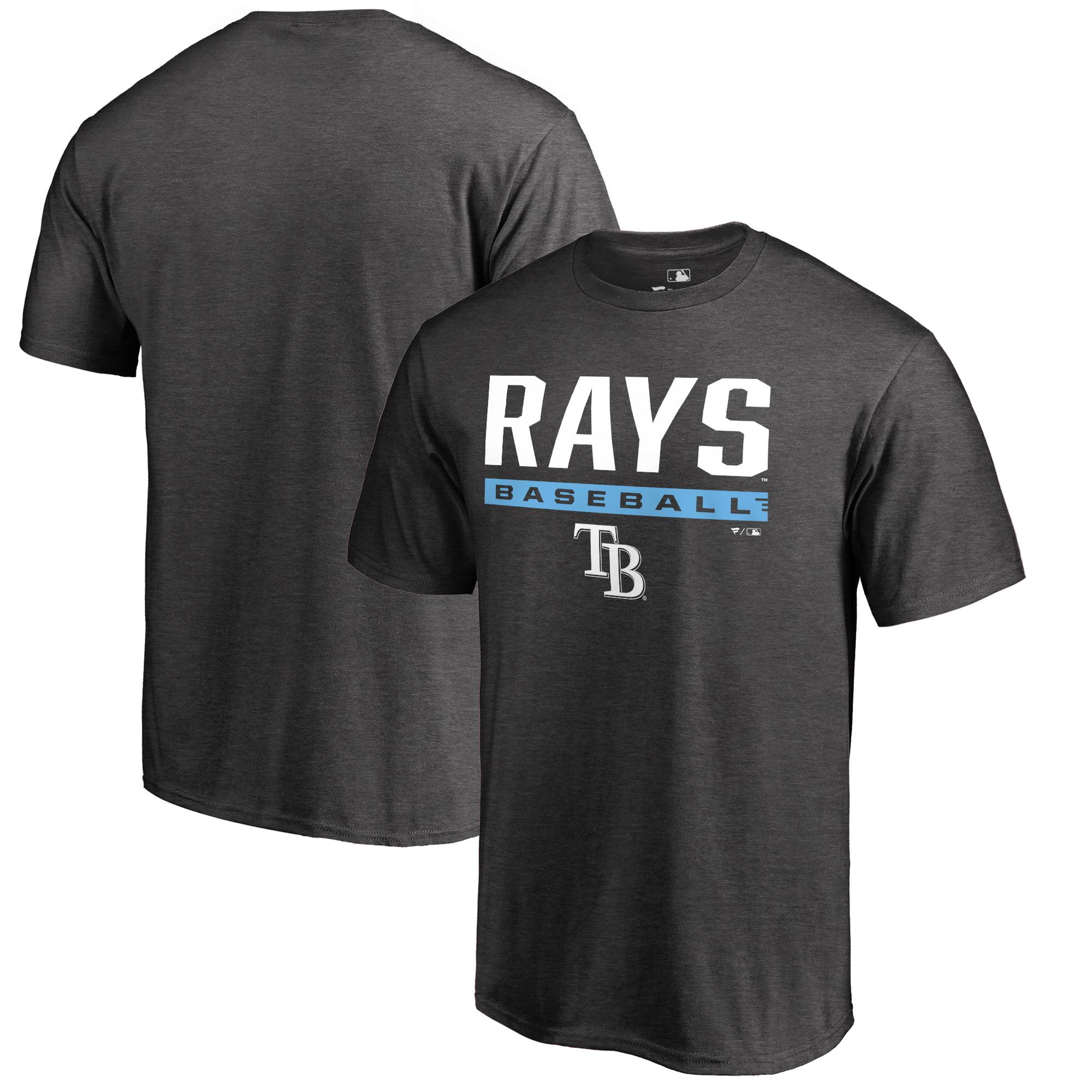 Tampa Bay Rays Fanatics Branded Win Stripe Big and Tall T-Shirt - Ash