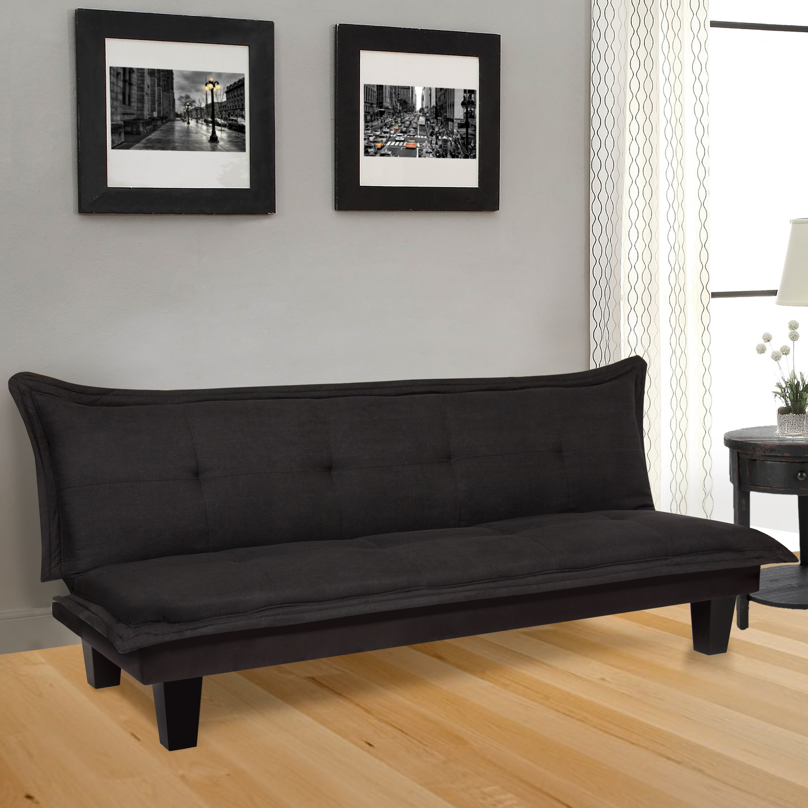 Best Choice Products Convertible Modern Futon Couch And Sofa Bed Lounger Sleeper by