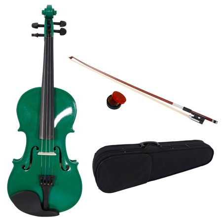 New 1/4 Acoustic Violin for Kids Boys Girls, Solid Wood Violin Acoustic Starter Kit with Violin Fiddle Case, Bow, Rosin, Violin Outfit Set for Beginners Students