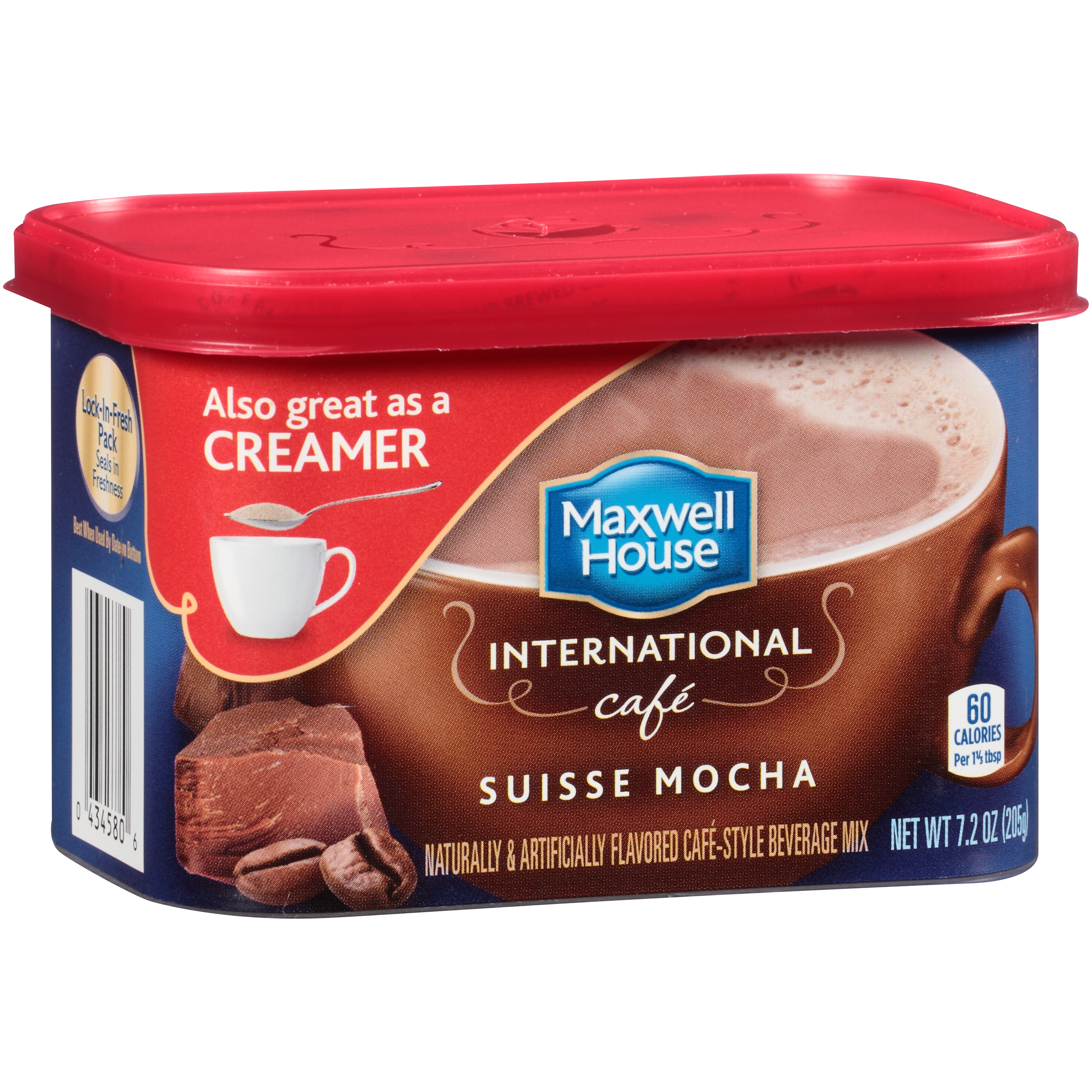 Maxwell House International Cafe Suisse Mocha Cafe-Style Beverage Mix 7.2 oz. Tub