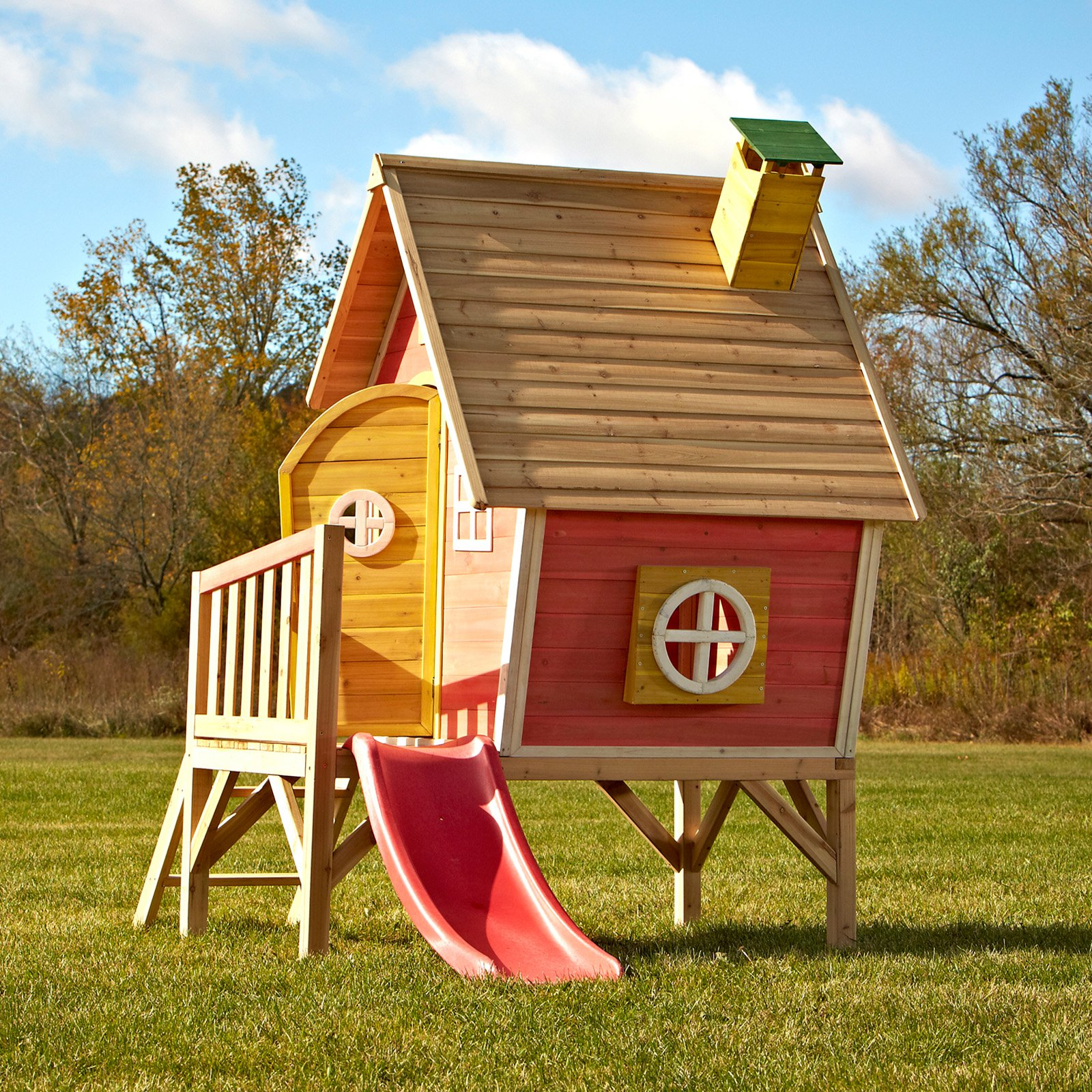 Swing N Slide Cedar Brook Wooden Play Set Walmart