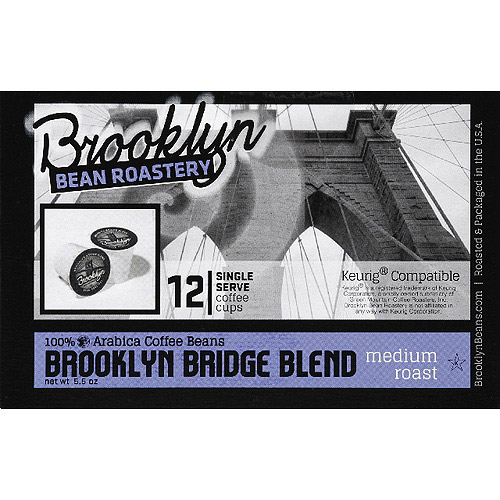 Brooklyn Bean Roastery Brooklyn Bridge Blend Coffee K-Cups, 12 count, (Pack of 6)