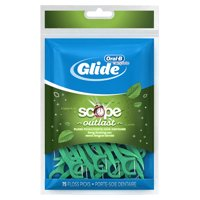 Oral-B Glide Complete with Scope Outlast Dental Floss Picks, Mint, 75 Count