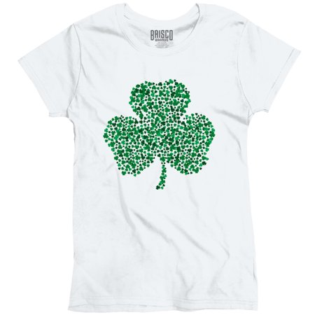 Lucky Shamrock St. Patricks Day Beer Irish Drunk Funny Humor T Ladies T-Shirt