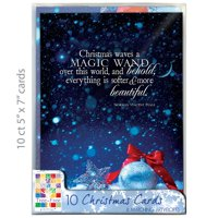"Tree-Free Greetings Christmas Cards and Envelopes, Set of 10, 5 x 7"", Behold Christmas Box Set"