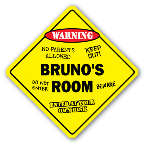 BRUNO'S ROOM SIGN kids bedroom decor door children's name boy girl gift by SignMission