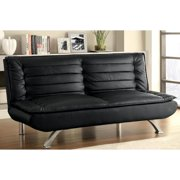 A Line Furniture Premo Modern Decorative Black Quilted Pillow Top Sofa Bed