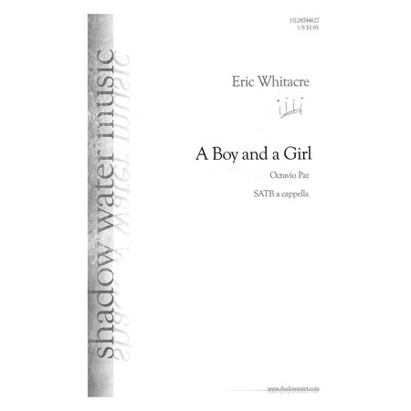 Shadow Water Music A Boy and a Girl SATB composed by Eric (A Boy And A Girl Sheet Music)