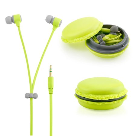 3.5 Mm Headset Adapter Microphone - Gearonic  Stereo 3.5 millimeter In-ear Earbuds Headset with Macaron Case