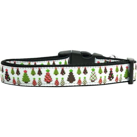 Designer Christmas Trees Nylon Cat Collar