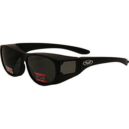 Escort Advanced System Safety Glasses Fits Over Most Prescription Eyewear-MATTE Black (Prescription Glass Frames)