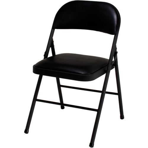 Incroyable Flash Furniture HERCULES Series Black Vinyl Metal Folding Chair With  Carrying Handle   Walmart.com