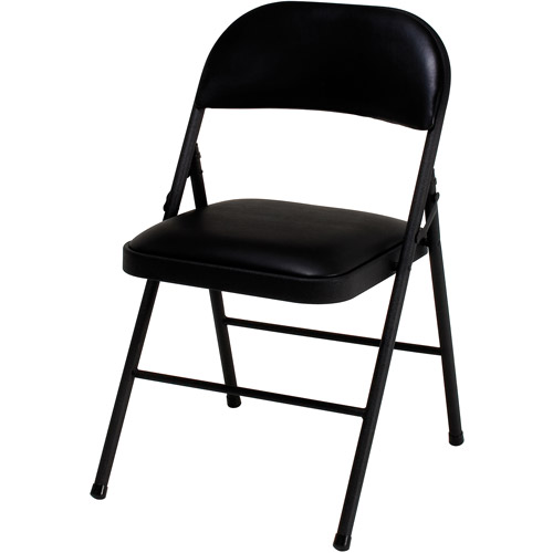 Cosco Vinyl Folding Chair, Set of 4, Multiple Colors