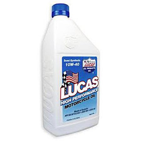 Lucas Oil 10710 32 oz  High Performance Semi-Synthetic 10W-40 Motorcycle Oil