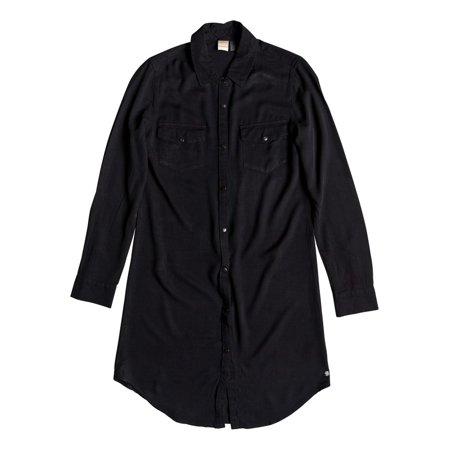 Roxy Womens Tomini Bay View Shirt Dress - True Black
