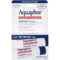 Aquaphor Healing Ointment Skin Protectant, Use After Hand Washing, Two .35 oz. Tubes