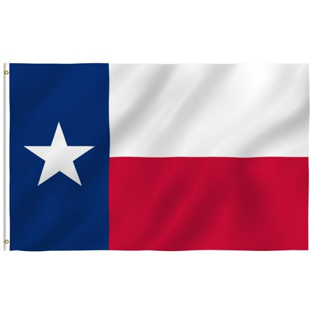 ANLEY [Fly Breeze] Texas State Flag - Vivid Color and UV Fade Resistant - Canvas Header and Brass Grommets - Texas TX Banner Flags 3x5; 4x6 - Texas Falg