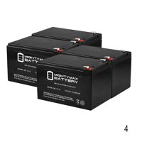 12V 12AH SLA Replacement for MotoTec Electric Trike 350w - 4 Pack