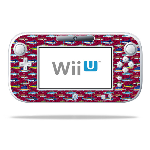 Skin Decal Wrap for Nintendo Wii U GamePad Controller Saltwater Collage