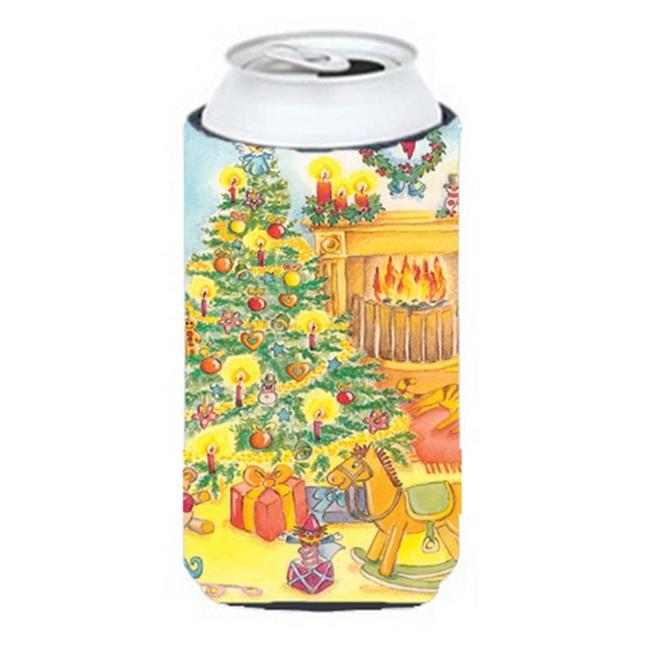Toys Around the Christmas Tree Tall Boy Can cooler Hugger
