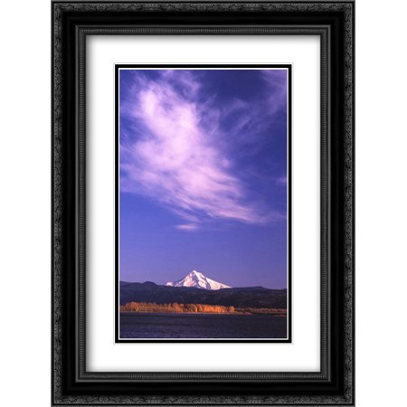 206 Matt - Mt. Hood XVIII 2x Matted 18x24 Black Ornate Framed Art Print by Leahy, Ike