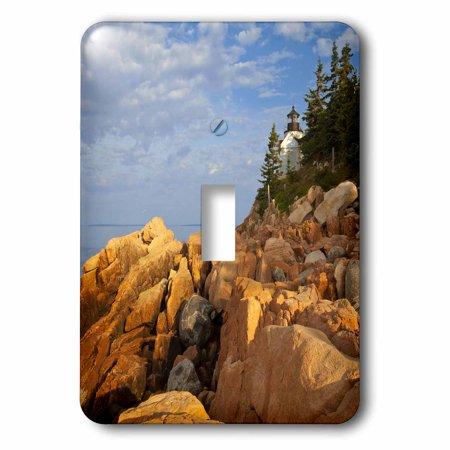 3dRose Bass Harbor Lighthouse, Acadia National Park, Maine - US20 CHA0018 - Chuck Haney, Double Toggle Switch