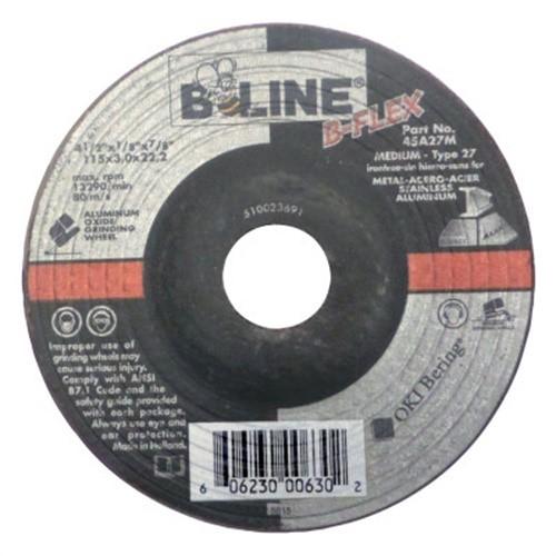 1//8 in Thick 5//8 in Arbor 58 Pack Depressed Center Wheel 4 1//2 in Dia Aluminum