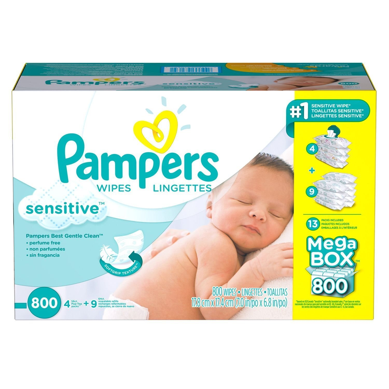 Sensitive Baby Wipes (800 ct.), Baby Wipes for Sensitive Skin By Pampers by Pampers