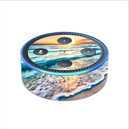 Skin Decal Vinyl Wrap For Amazon Echo Dot 2  2Nd Generation    Sunset On Beach