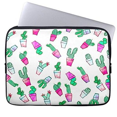 58ead5448867 Eratio Cute Pink Green Watercolour Trendy Cactus Pattern Neoprene Laptop  Sleeve 13 Inch Macbook Air Case Macbook Pro Sleeve and 13 Inch Laptop Bag