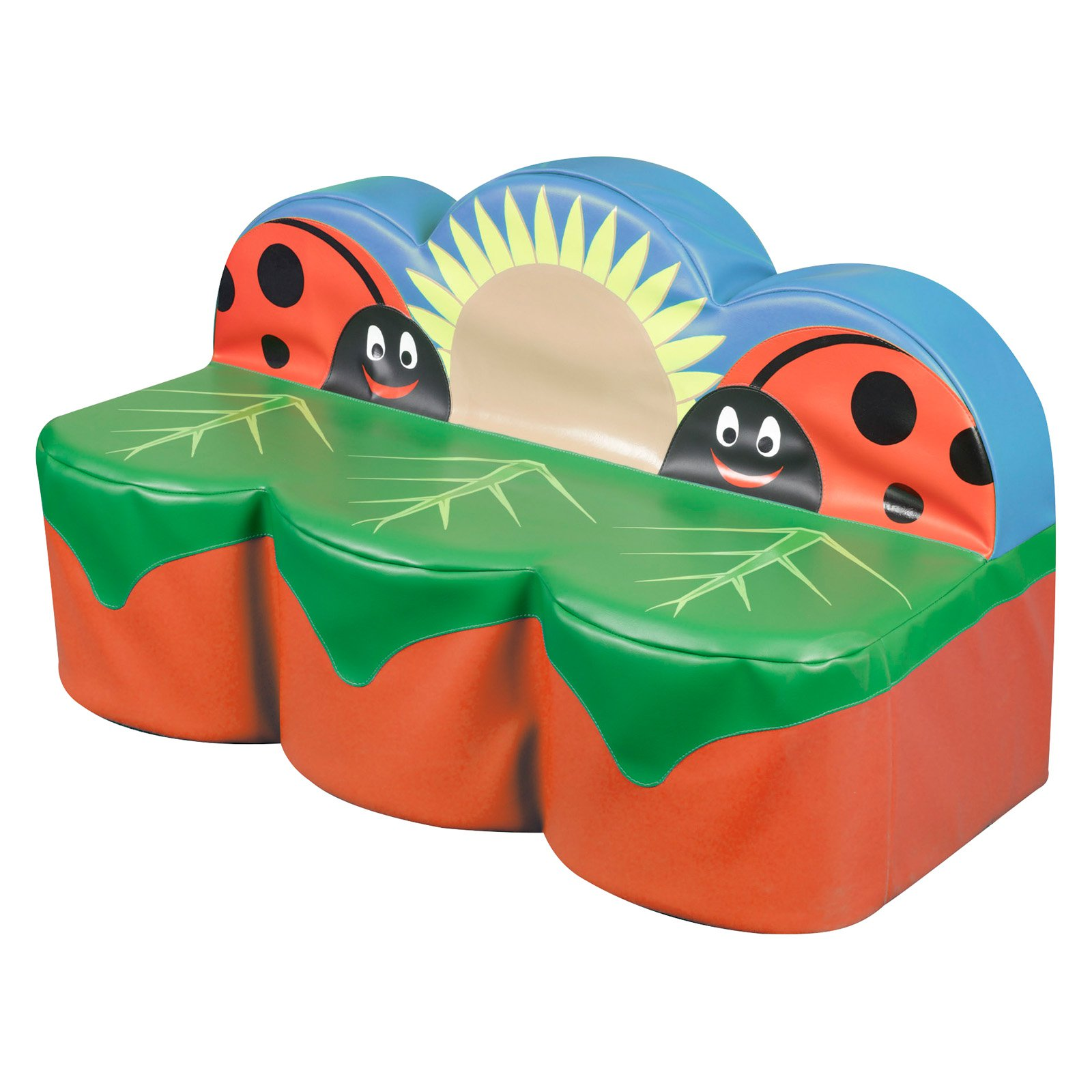 Kalokids Back to Nature Ladybug 3 Seat Giant Sofa