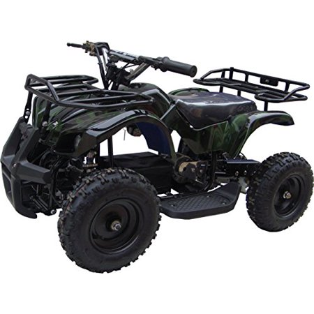 Go-Bowen Ride on Sonora ATV for Kids 350 Watt Electric Mini Quad Utility Model (Green - Utility Quad