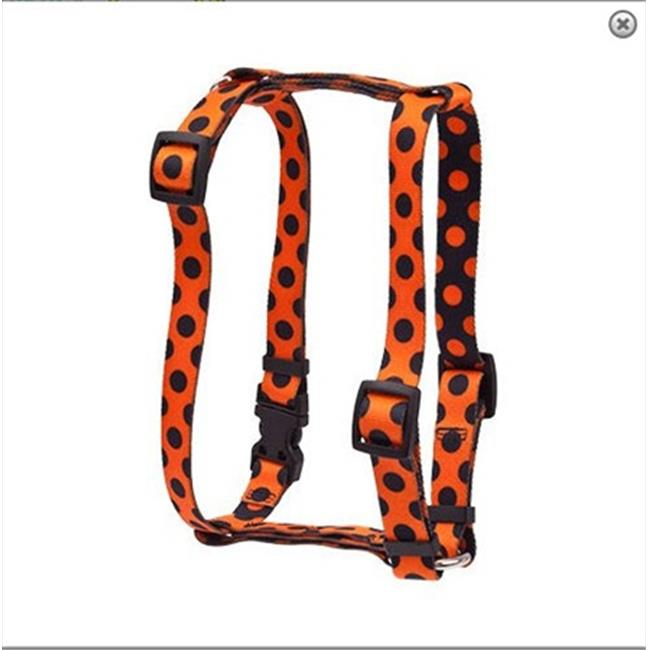 Yellow Dog Design H-HPD103L Halloween Polka Dot Roman Harness - Large