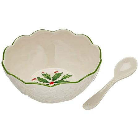 Lenox Holiday All Purpose Bowl - Lenox Hosting The Holidays Dw Dip Bowl W/Spn