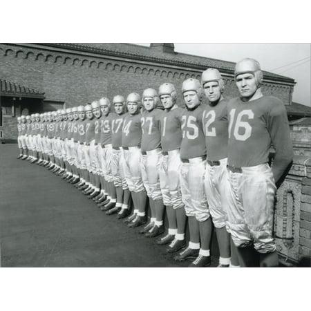 Avanti Press Football Lineup Historic Detroit Blank Note - Football Stationery